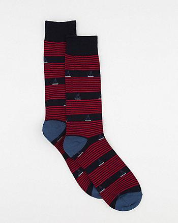 Stripe Cotton Blend Socks