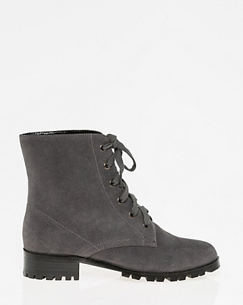 Suede Lace-Up Boot