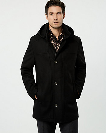 Melton Wool Car Coat