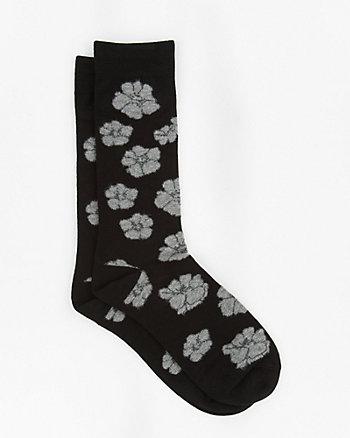 Floral Print Bamboo Blend Socks