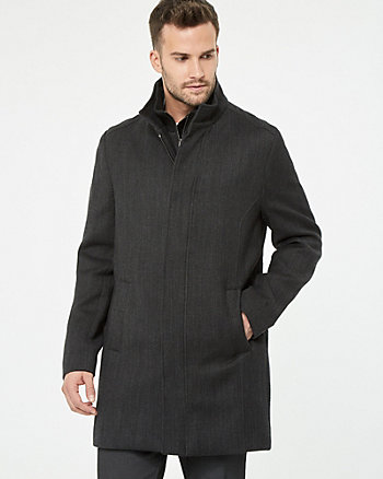 Wool Twill Topcoat