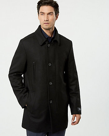 Melton Wool Blend Car Coat