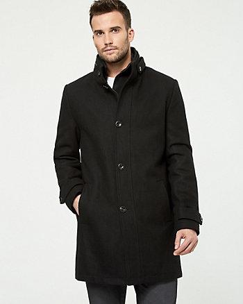 Wool Blend Crombie Coat