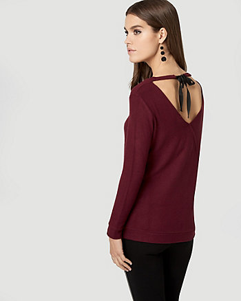 Knit Tie Back Top