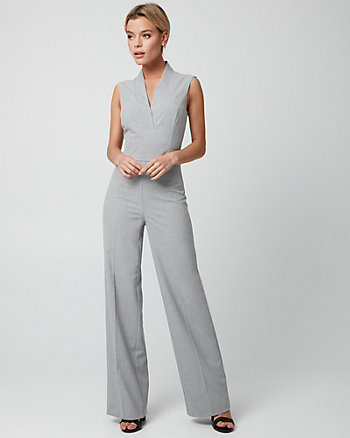 Viscose Blend Wide Leg Jumpsuit