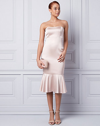 Satin Strapless Cocktail Dress