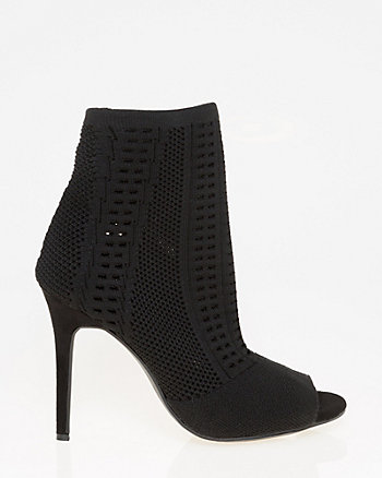 Stretch Knit Cutout Bootie