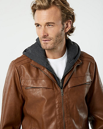 Leather-Like Motorcycle Jacket