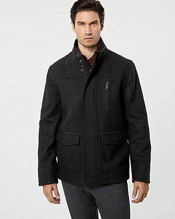 Wool Blend Mailman Jacket