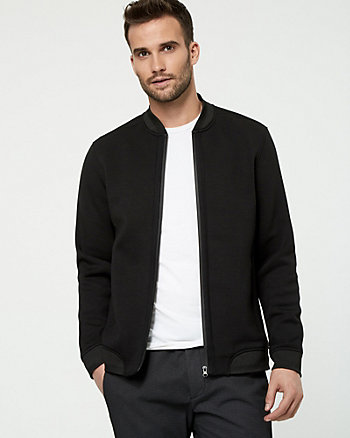 Scuba Knit Bomber Jacket