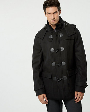 Melton Wool Blend Duffle Coat