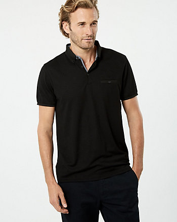 Viscose Blend Polo Top