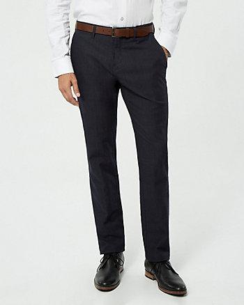Pantalon deux tons en mélange de coton