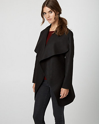 Cashmere-Like Belted Wrap Coat
