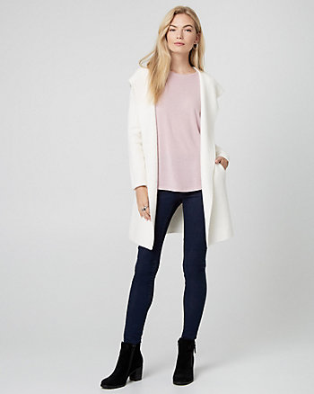 Brushed Viscose Sweater Coat