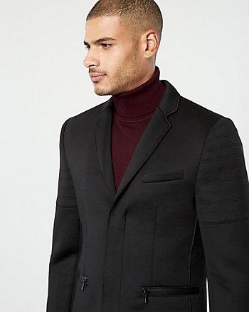 Veston en tricot d'aspect néoprène