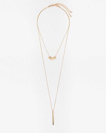 Metal Bar Pendant Y-Necklace