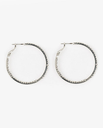 Gem Hoop Earrings