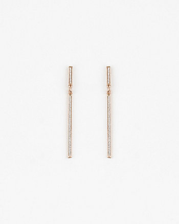 Glitter & Metal Bar Earrings