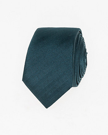 Textured Silk Skinny Tie