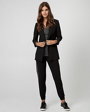 Knit Crêpe Shawl Collar Blazer
