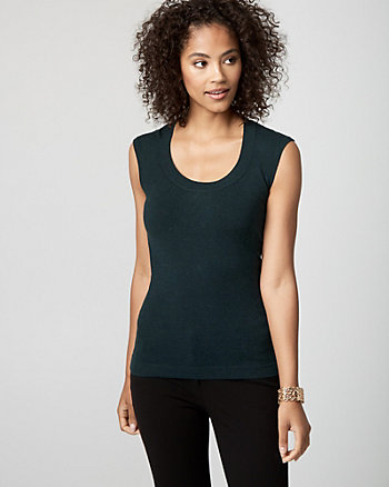 Viscose Blend Shell Sweater