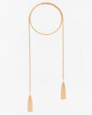 Knotted Tassel Choker Necklace