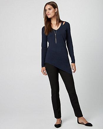 Viscose Blend Tunic Sweater