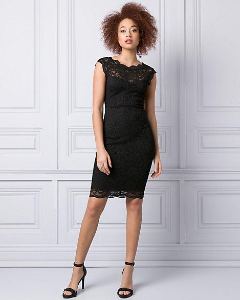 Black Boat Neck Cocktail Dresses