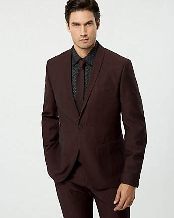 Two-Tone Piqué City Fit Blazer