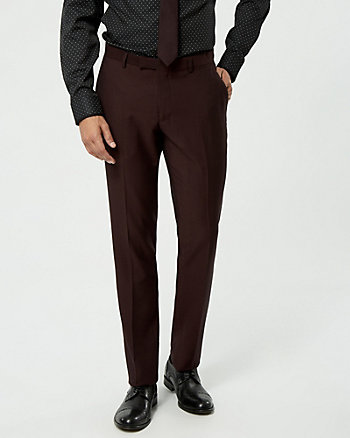 Two-Tone Piqué Slim Leg Pant