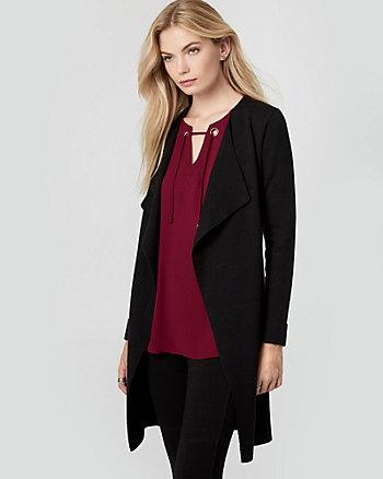 Viscose Blend Belted Sweater Coat