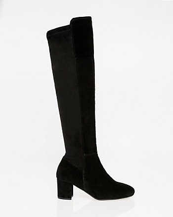 Italian-Designed Suede Over-the-Knee Boot