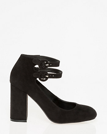 Almond Toe Ankle Strap Pump
