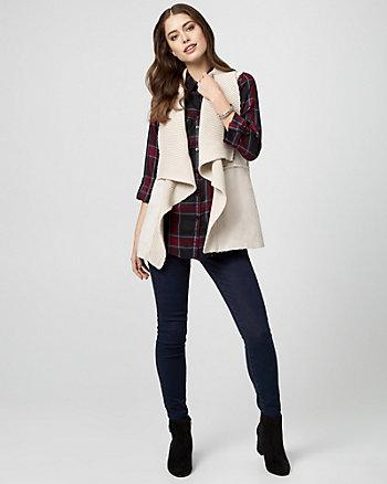 Faux Sherpa & Knit Vest