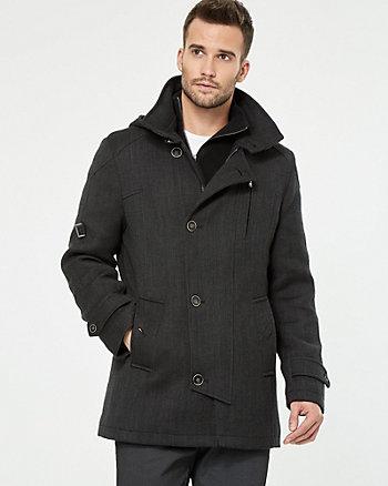 Wool Twill Car Coat