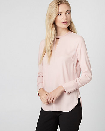 Satin Crew Neck Blouse