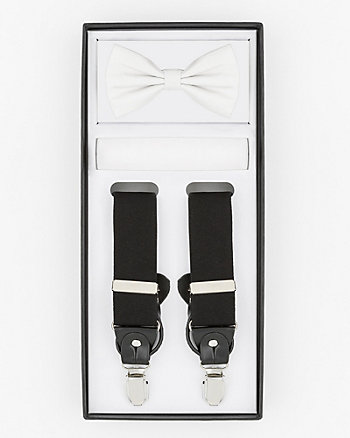 Bow Tie, Pocket Square & Suspenders Set