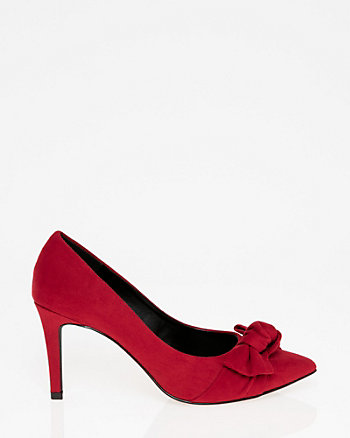 Pointy Toe Bow Pump