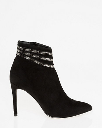 Jewel Embellished Pointy Toe Ankle Boot