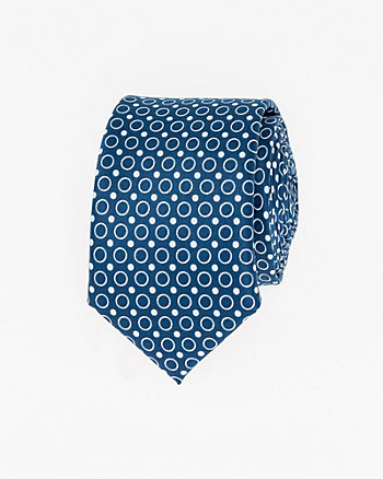 Dot Print Woven Skinny Tie