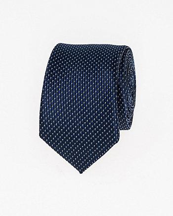 Dot Print Microfibre Skinny Tie
