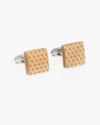 Wood Square Cufflinks
