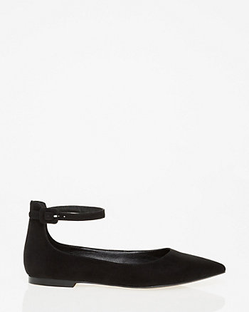 Pointy Toe Ankle Strap Flat