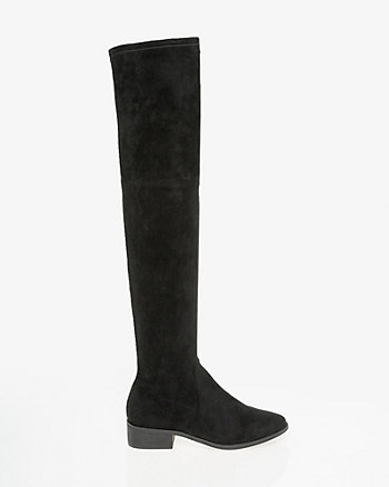 Stretch Suede-Like Thigh-High Boot