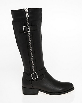 Knee-High Buckle Boot