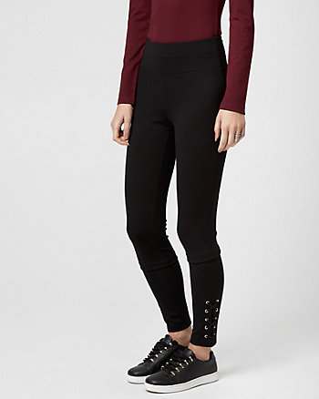 Lace-Up Ponte Legging