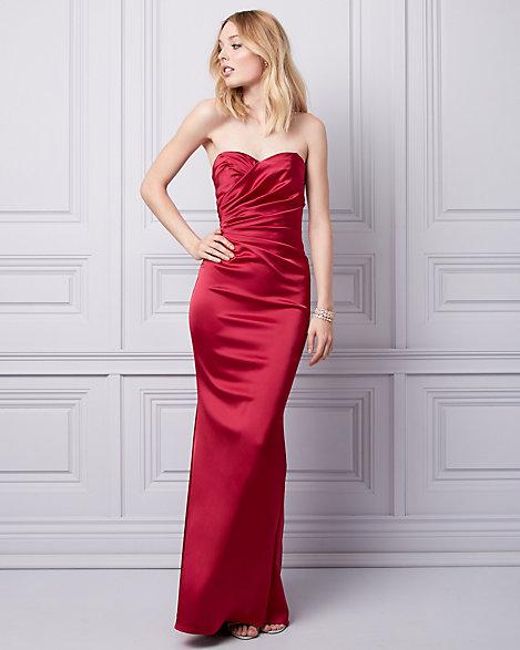 Satin Sweetheart Dress