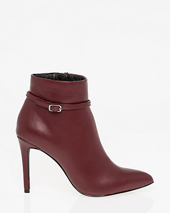 Buckle Pointy Toe Ankle Boot