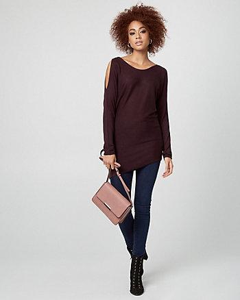 Viscose Cold Shoulder Sweater